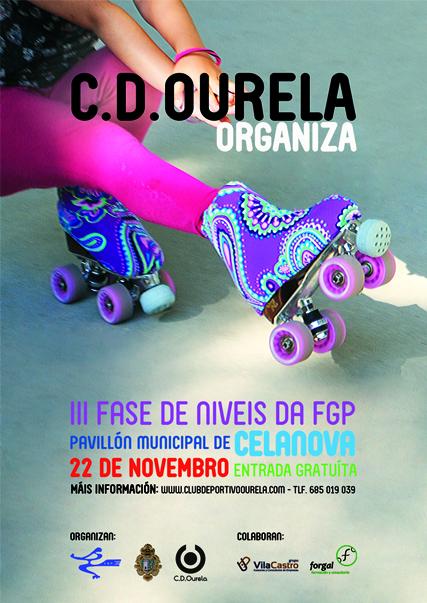 Club Deportivo Ourela organiza la III Fase de Niveis de patinaje